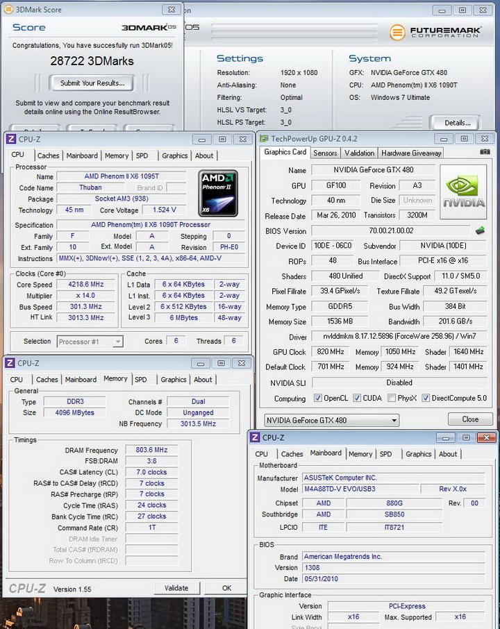 05 Gigabyte GTX480 1536MB  DDR5