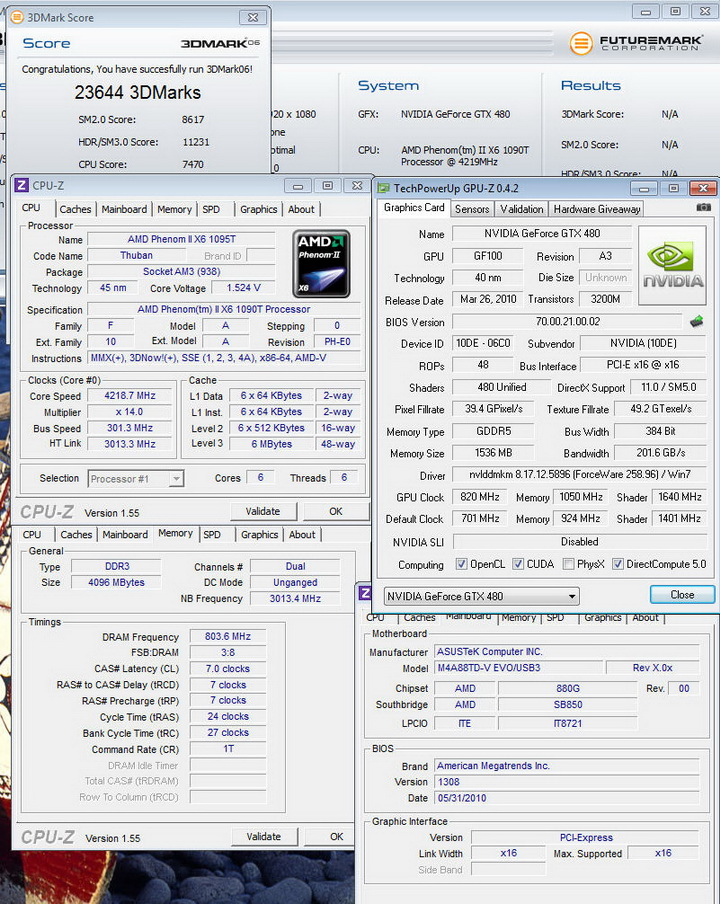 06 Gigabyte GTX480 1536MB  DDR5