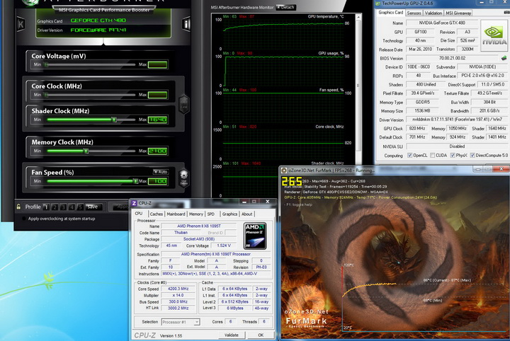 temp Gigabyte GTX480 1536MB  DDR5