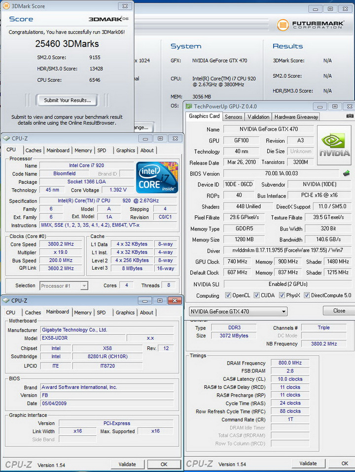 06 GALAXY GTX 470 1280MB SLI Review
