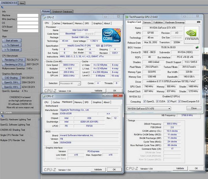 95 GALAXY GTX 470 1280MB SLI Review