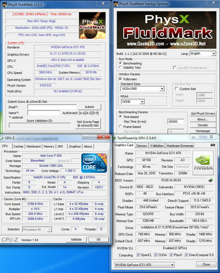 fluidmark GALAXY GTX 470 1280MB SLI Review