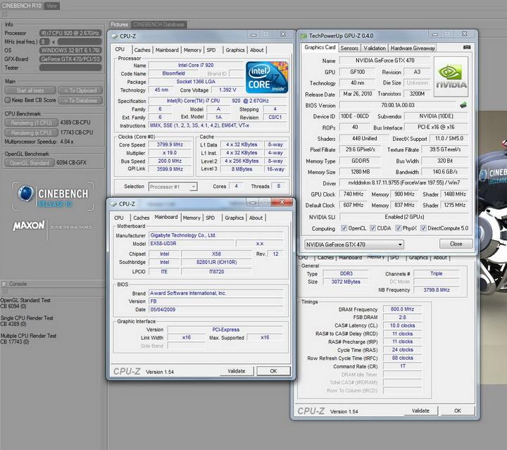 r10 GALAXY GTX 470 1280MB SLI Review