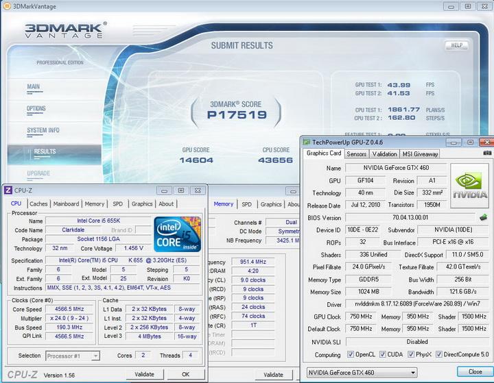 vantage INNO GTX 460 1GB DDR5 OVERCLOCK