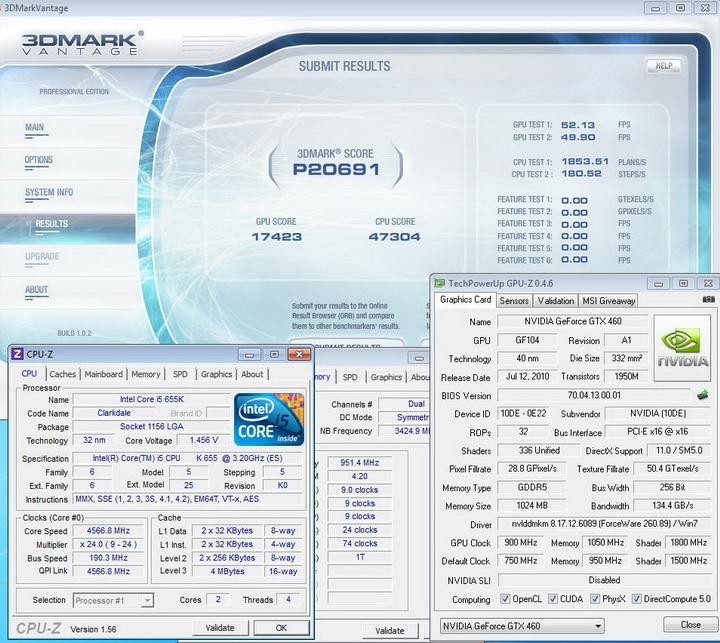 vantage1 INNO GTX 460 1GB DDR5 OVERCLOCK
