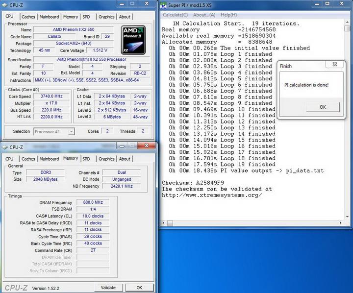 pi1m2 Kingmax DDR3 1G/1333