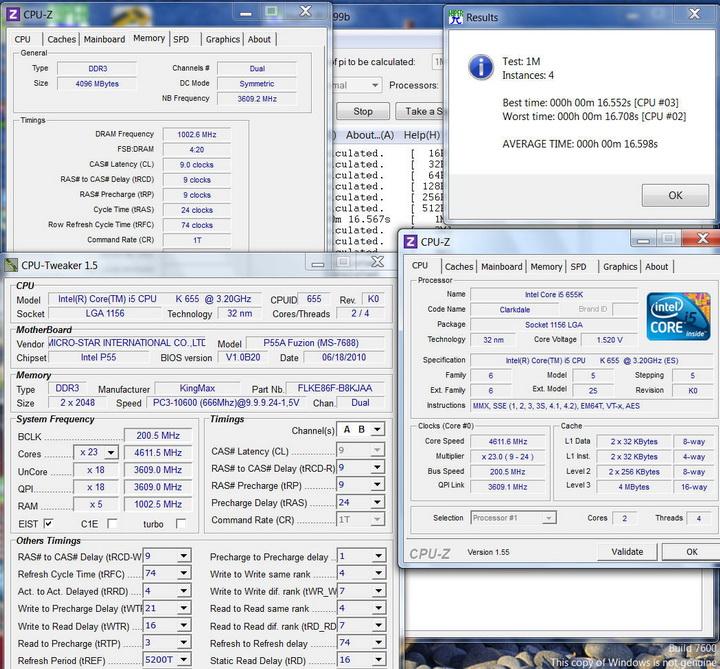 1m6core Kingmax Hercules DDR3  Bus 2200MHz