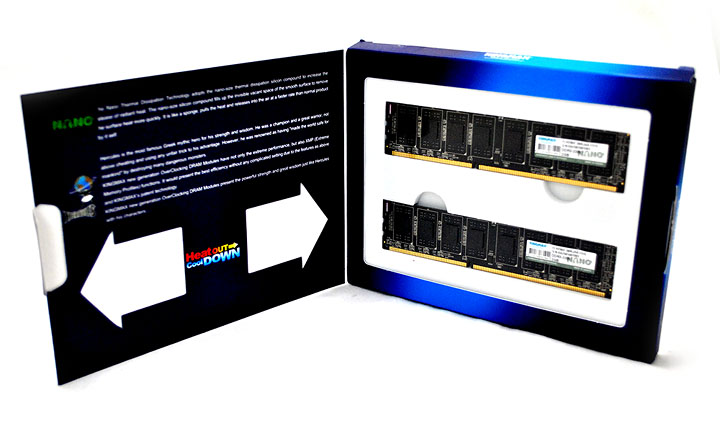 3 KINGMAX HERCULES DDR3 EP2 @ 2,400 MHz