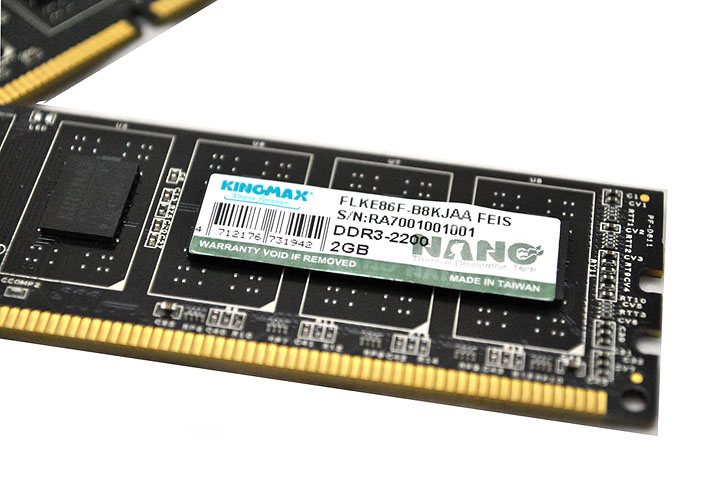 7 KINGMAX HERCULES DDR3 EP2 @ 2,400 MHz