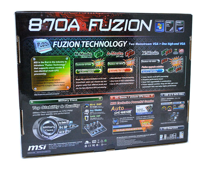 3 MSI 870A Fuzion  Review  Cool......