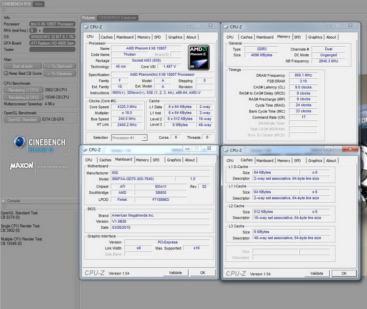 cr10 MSI 890FXA GD70 & AMD Phenom II X6 1090T
