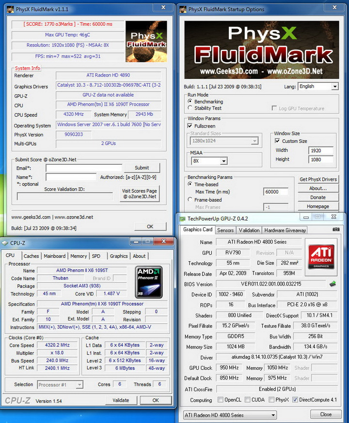 fot MSI 890FXA GD70 & AMD Phenom II X6 1090T