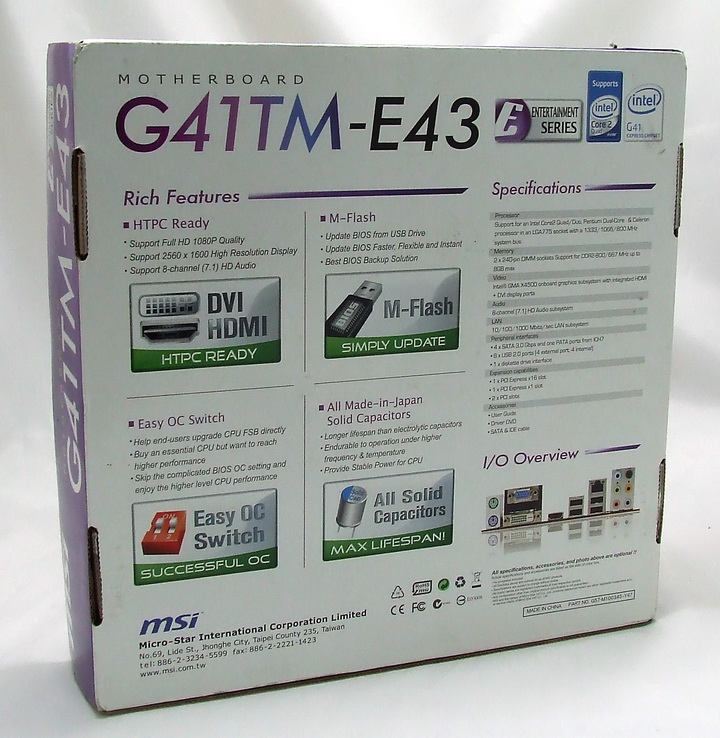 dscf1718 MSI G41TM E43 Review