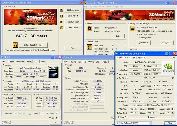 2001 MSI GTX260 Lightning Black Edition