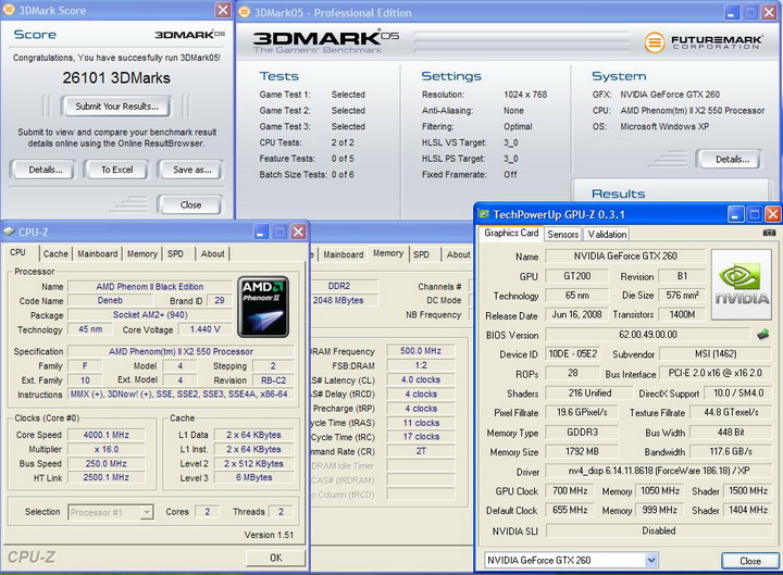 2005 MSI GTX260 Lightning Black Edition