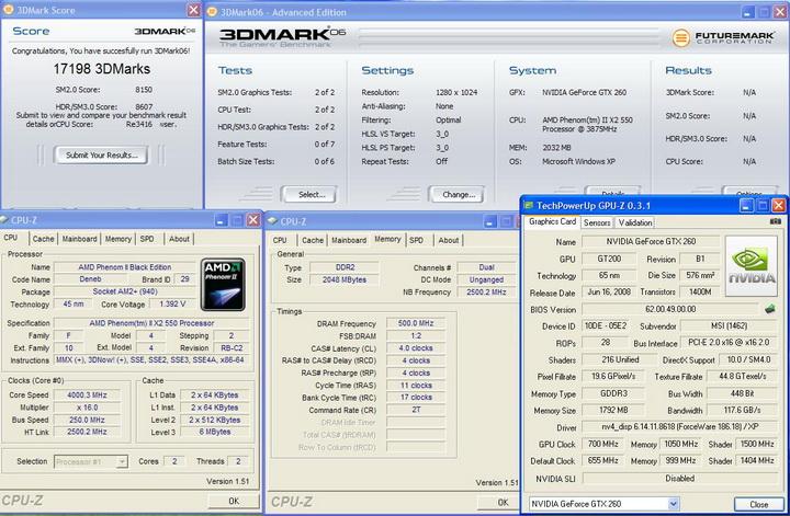20061 MSI GTX260 Lightning Black Edition