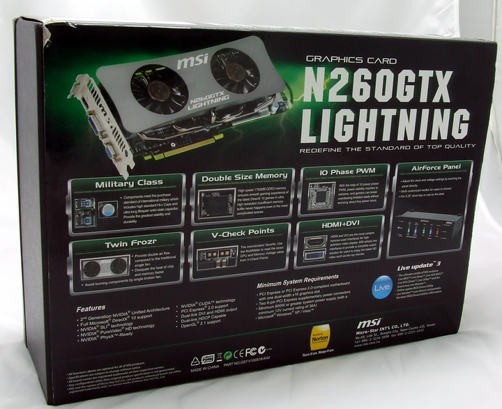 8 MSI GTX260 Lightning Black Edition