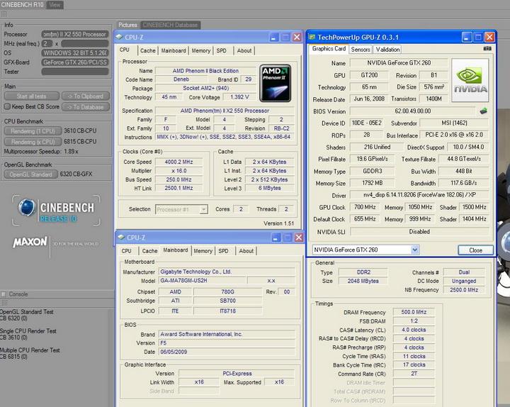 r10 MSI GTX260 Lightning Black Edition