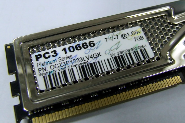 ram3 OCZ DDR3 PC3 10666 Platinum Low Voltage Dual Channel