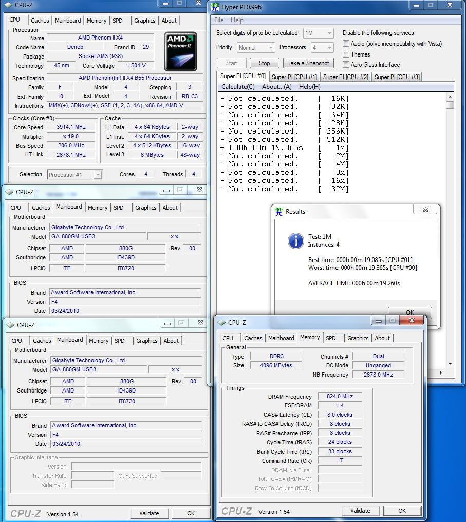 pi1m4core OCZ DDR3 PC3 12800 Intel® XMP
