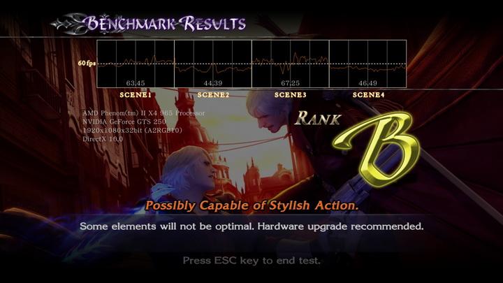 devilmaycry4 benchmark dx10 Palit GTS250 1GB
