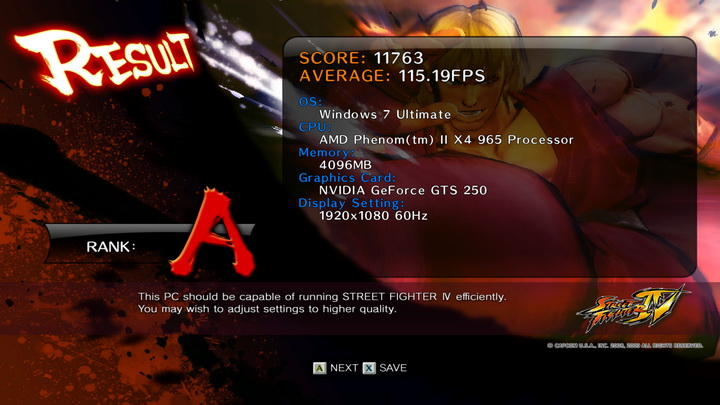 streetfighteriv benchmark Palit GTS250 1GB