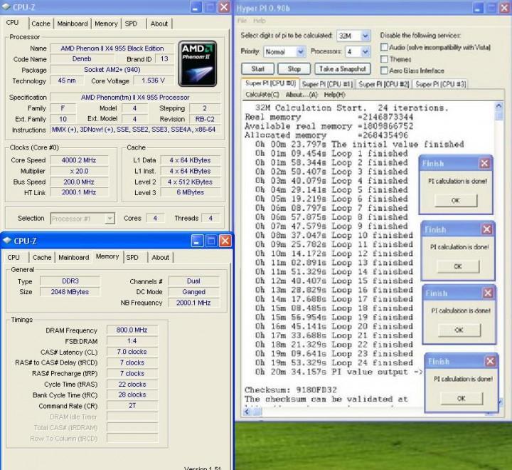 32 Phenom II955 VS  DFI DK 790 FXB M3H5
