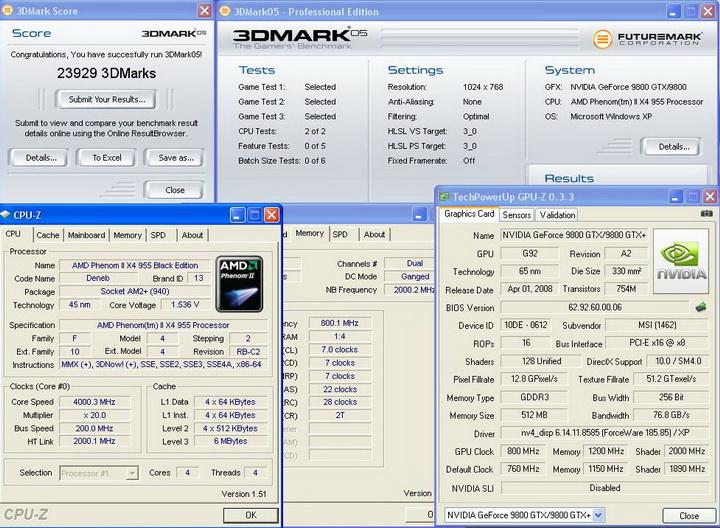 3dmark05 Phenom II955 VS  DFI DK 790 FXB M3H5