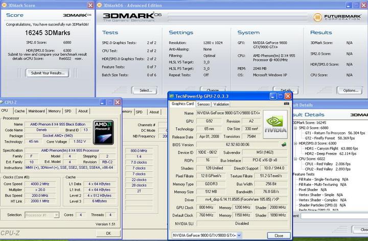 3dmark06 Phenom II955 VS  DFI DK 790 FXB M3H5