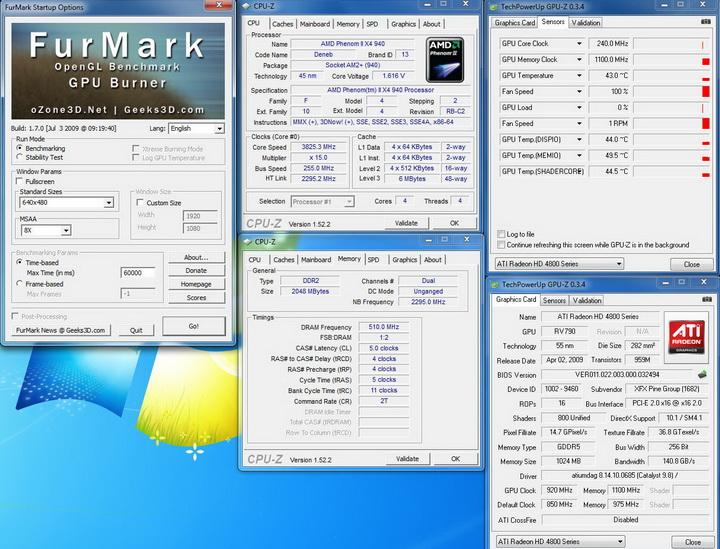 temp XFX HD 4890 @ AMD System