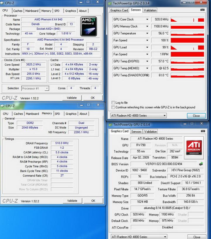 temp3 XFX HD 4890 @ AMD System
