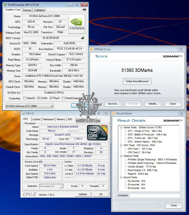 3d03 ALIENWARE M17X GTX 280M SLI Embed!!