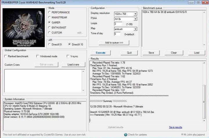 crysiswh ALIENWARE M17X GTX 280M SLI Embed!!