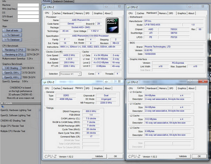 cinebench952 DFI vs DRYICE  Hoo Cool...