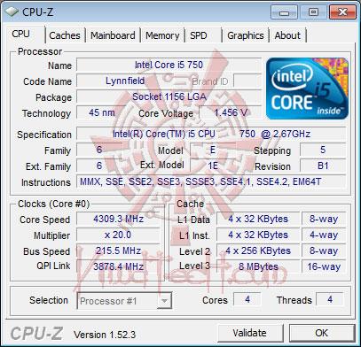 cpu 4309 DFI DK P55 T3eH9 Review