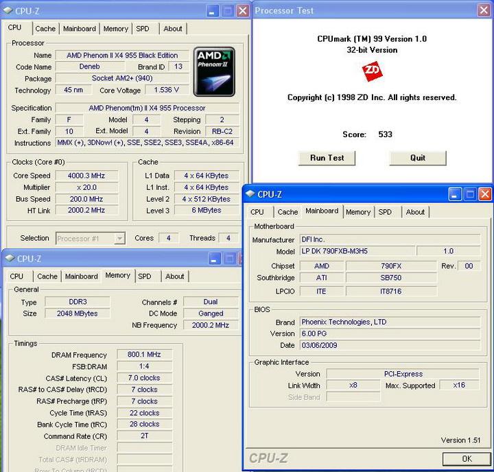 cpumaek991 Phenom II955 VS  DFI DK 790 FXB M3H5