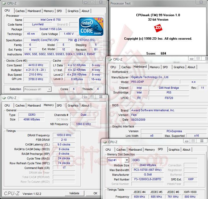 cpumark99 4400 ทดสอบจริง GIGABYTE P55 UD4P
