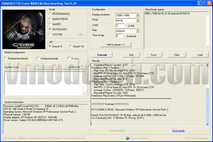 crysis 1680 ASUS EAH4870x2 Tri Fans Cooler