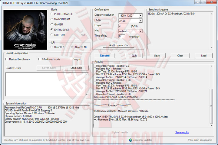 crysiswh EVGA GEFORCE GTX295 SinglePCB CO OP Edition
