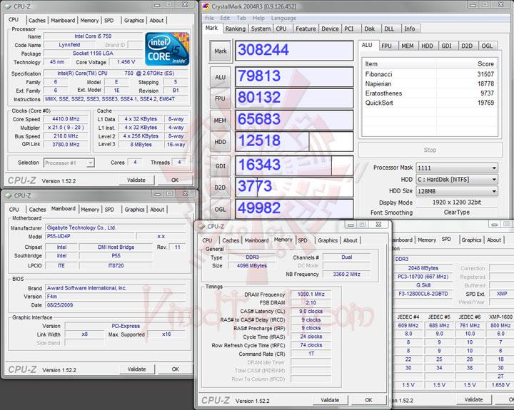 crystalmark 4400 ทดสอบจริง GIGABYTE P55 UD4P