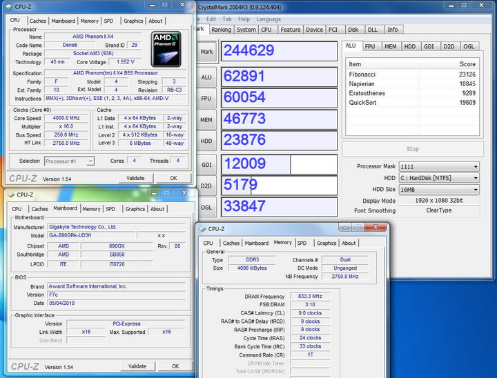 crytalmark 2004r3 Gigabyte 890GPA UD3H  Unlock Core