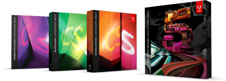 cs5 family boxshot 3in png with shadow อะโดบี เผยโฉมผลิตภัณฑ์ใหม่ ชุด Creative Suite 5