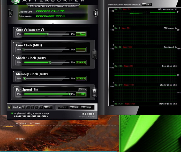 furmarkstock Thermalright Spitfire & HR03GT + GTX470 !!!