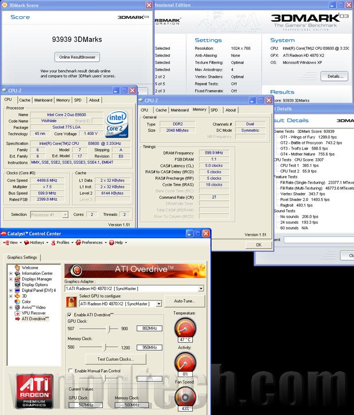 3d03 4870x2 ASUS EAH4870x2 Tri Fans Cooler