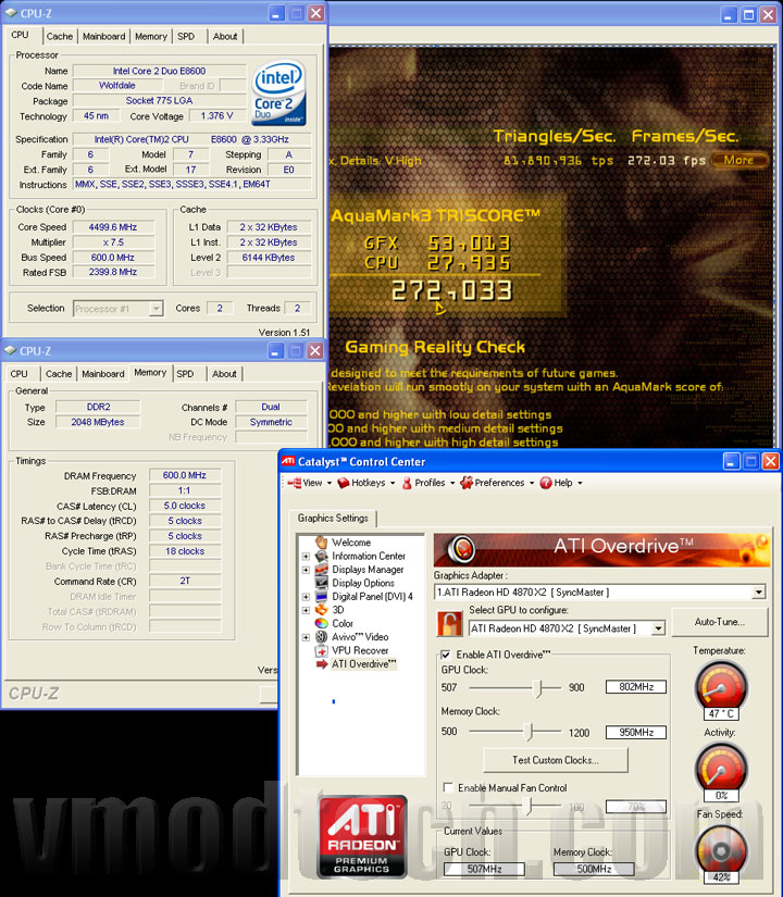 4870x2 oc am3 ASUS EAH4870x2 Tri Fans Cooler