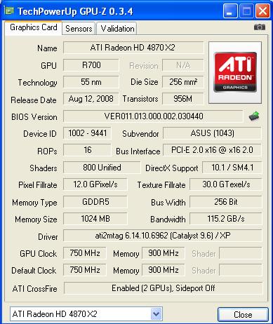 def4870x2 ASUS EAH4870x2 Tri Fans Cooler