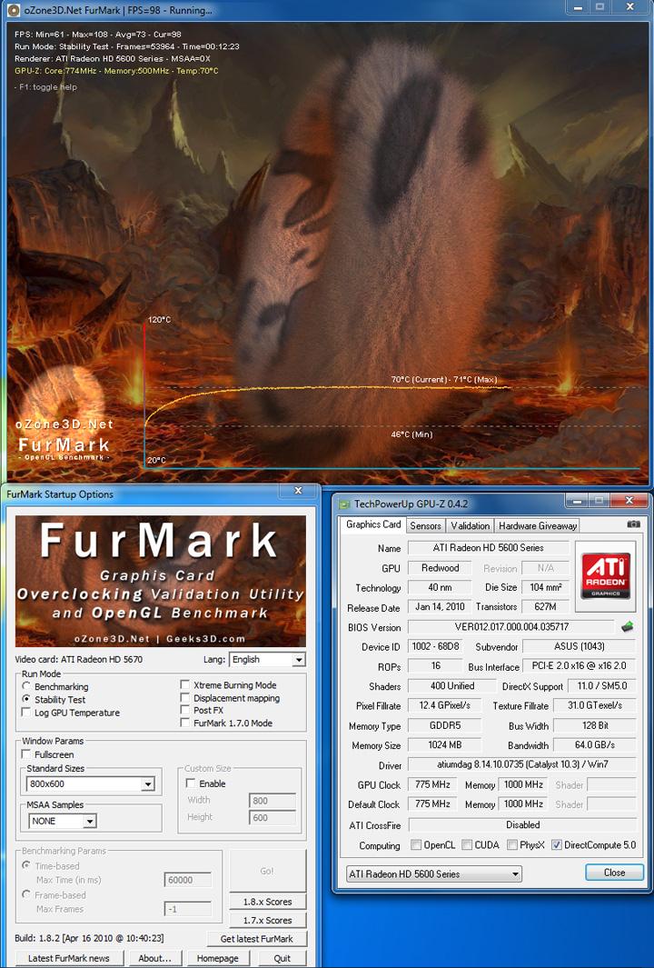 fur def ASUS EAH5670 1GB DDR5 Review