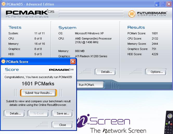 pcmark051 BenQ nScreen i91 Review