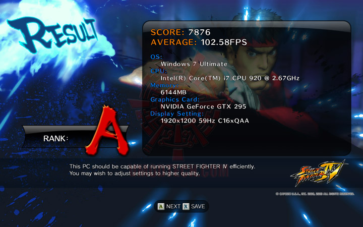 streetfighteriv benchmark EVGA GEFORCE GTX295 SinglePCB CO OP Edition