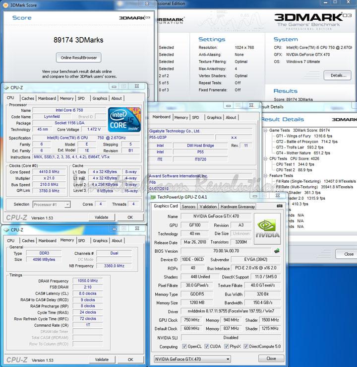 03 EVGA Geforce GTX470 Overclocking Review